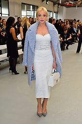 © Licensed to London News Pictures. 20/02/2016. HELEN GEORGE attends the JASPER CONRAN Autumn/Winter 2016 show. Models, buyers, celebrities and the stylish descend upon London Fashion Week for the Autumn/Winters 2016 clothes collection shows. London, UK. Photo credit: Ray Tang/LNP