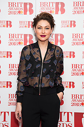 EDITORIAL USE ONLY XXXX Emma Willis attending the Brit Awards 2018 Nominations event held at ITV Studios on Southbank, London. Photo credit should read: David Jensen/EMPICS Entertainment