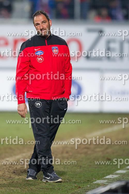 10.04.2015, Voith Arena, Heidenheim, GER, 2. FBL, 1. FC Heidenheim vs FC Ingoldstadt 04, 28. Runde, im Bild Trainer Frank Schmidt ( 1.FC Heidenheim ) // during the 2nd German Bundesliga 28th round match between 1. FC Heidenheim and FC Ingoldstadt 04 at the Voith Arena in Heidenheim, Germany on 2015/04/10. EXPA Pictures &copy; 2015, PhotoCredit: EXPA/ Eibner-Pressefoto/ Bozler<br /> <br /> *****ATTENTION - OUT of GER*****