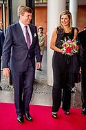 18-4-2018 AMSTERDAM - King Willem-Alexander and Queen Maxima attend the premiere of Gurre-Lieder in the Dutch National Opera & Ballet.  ROBIN UTRECHT