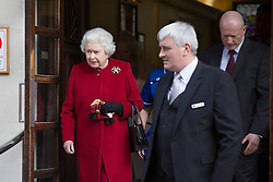 © licensed to London News Pictures. London, UK 04/03/2013. Queen Elizabeth II leaves King Edward VII Hospital in London on Monday 04 March 2013, after being admitted with symptoms of gastroenteritis. Photo credit: Tolga Akmen/LNP