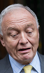 © Licensed to London News Pictures. 04/04/2017. London, UK. Former Mayor of London Ken Livingstone reacts in mock horror as he talks to reporters at Church House as he arrives to hear the result of a Labour Party disciplinary hearing. Mr Livingstone has been accused of anti-Semitism after comments he made in April 2016 claiming that Hitler supported Zionism in the 1930's. Photo credit: Peter Macdiarmid/LNP