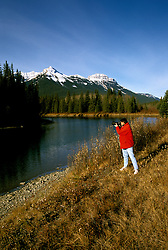 Canada: The Canadian Rockies.  Near Banff along Bow River.  Photo #: cnrock105..Photo copyright Lee Foster, 510/549-2202, lee@fostertravel.com, www.fostertravel.com.