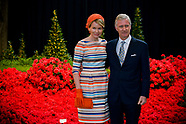 King Philippe and Queen Mathilde Ghent florals