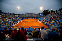 Centre court in 1st round of singles at 25th Vegeta Croatia Open Umag, on July 22, 2014, in Stella Maris, Umag, Croatia. Photo by Urban Urbanc / Sportida