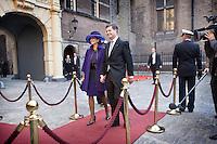 Nederland. Den Haag, 16 september 2008.<br /> Prinsjesdag.<br /> Jan peter Balkenende met echtgenote Bianca. Minister-president.<br /> Foto Martijn Beekman<br /> NIET VOOR PUBLIKATIE IN LANDELIJKE DAGBLADEN.