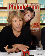 """PHILADELPHIA - NOVEMBER 6: Jon Bon Jovi, musician and now co-owner of the Philadelphia Soul AFL football team speaks with the media after Philadelphia Magazine named him one of the 22 """"People to Watch"""" that will change Philadelphia at Tiffany & Co. November 6, 2003 in Philadelphia, Pennsylvania. The 22 people were selected not only because of their success, but Philadelphia Magazine believes will become household names in the next decade. (Photo by William Thomas Cain/Getty Images)"""