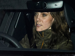 © Licensed to London News Pictures. 09/01/2020. London, UK. CATHRINE, DUCHESS OF CAMBRIDGE is seen arriving back at Kensington Palace in London on her Birthday. Yesterday Prince Harry and Megan, The Duke and Duchess of Sussex, announced that they will be stepping back from official Royal duty and spending more time abroad. Photo credit: Ben Cawthra/LNP