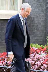 © Licensed to London News Pictures. 17/09/2019. London, UK. Minister of State for Environment, Food and Rural Affairs and Department for International Development ZAC GOLDSMITH departs from No 10 Downing Street after attending the weekly Cabinet Meeting. Photo credit: Dinendra Haria/LNP