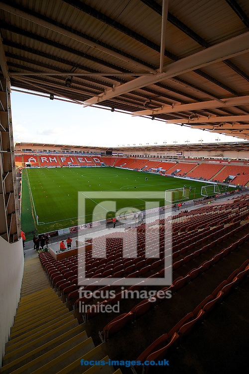 General view of the stadium pictured ahead of the Sky Bet Championship match at Bloomfield Road, Blackpool<br /> Picture by Ian Wadkins/Focus Images Ltd +44 7877 568959<br /> 19/08/2014