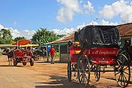 Horse and carriages in Gaspar, Ciego de Avila, Cuba.