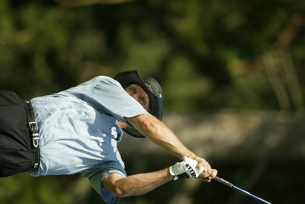 Greg Norman..2003 PGA Championship..First Round..Oak Hill CC..Rochester, NY..Thursday, August 14  2003..photograph by Darren Carroll