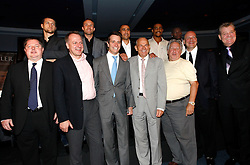 July 13, 2009; New York, NY, USA; (Top Row) Carl Froch, Mikkel Kessler, Arthur Abraham, Andre Dirrell and Jermain Taylor pose at the press conference at Madison Square Garden announcing the Super Six World Boxing Classic, which will pit six of the world's top super middleweights in a series of bouts.  Andre Ward was unable to attend.