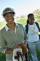 Grandmother and Granddaughter on Golf Course