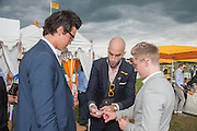 ALEX MACKWOOD;  DRUMMOND MONEY-COUTTS; ANGUS STEWART;, The Veuve Clicquot Gold Cup Final.<br /> Cowdray Park Polo Club, Midhurst, , West Sussex. 15 July 2012.