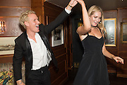 JAMIE LAING, GEORGINA LE ROUX, Fraser Carruthers  and Harry Scofield birthday. Archie's club, 92b Old Brompton Rd. London. 11 February 2017