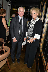 HUGO VICKERS and HRH PRINCESS MICHAEL OF KENT at a dinner hosted by Lucy Yeomans and Amanada Foreman to celebrate the launch of the film Georgiana, Duchess of Devonshire held at sackville's, Sackville Street, London on 7th September 2015.