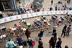 Peloton with two laps to go at Healthy Ageing Tour 2018 - Stage 5, a 94.3 km road race in Groningen on April 8, 2018. Photo by Sean Robinson/Velofocus.com