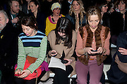 Issa Fashion show. Somerset House. London. 19 February 2010. -DO NOT ARCHIVE-© Copyright Photograph by Dafydd Jones. 248 Clapham Rd. London SW9 0PZ. Tel 0207 820 0771. www.dafjones.com.