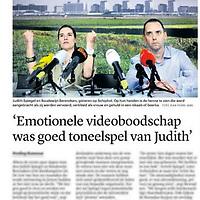 Tekst en beeld zijn auteursrechtelijk beschermd en het is dan ook verboden zonder toestemming van auteur, fotograaf en/of uitgever iets hiervan te publiceren <br /> <br /> Trouw 12 december 2013: bevrijd koppel Judith Spiegel en Boudewijn Berendsen bij de persconferentie op Schiphol