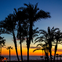 Santa Monica Beach amid the sunet on Monday, April 28, 2014.