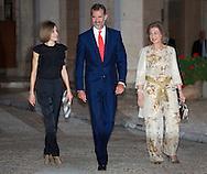 Palma de Mallorca, 05-08-2015<br /> <br /> <br /> King Felipe and Queen Letizia and Queen Sofia attended a reception at the Almudaina Palace.<br /> <br /> Royalportraits Europe/Bernard Ruebsamen