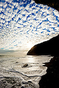 Clouds and surf at Dana Point