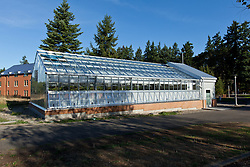 Greenhouse nears completion at PLU on Tuesday, Sept. 15, 2015. (Photo: John Froschauer/PLU)