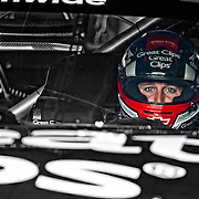 August 10, 2012:  Nationwide Series driver Kasey Kahne (38) is in his car ready to begin practice for the Zippo 200 at the glen at Watkins Glen International speedway, Watkins Glen, New York.  (Credit Image: © Kostas Lymperopoulos/Cal Sport Media)