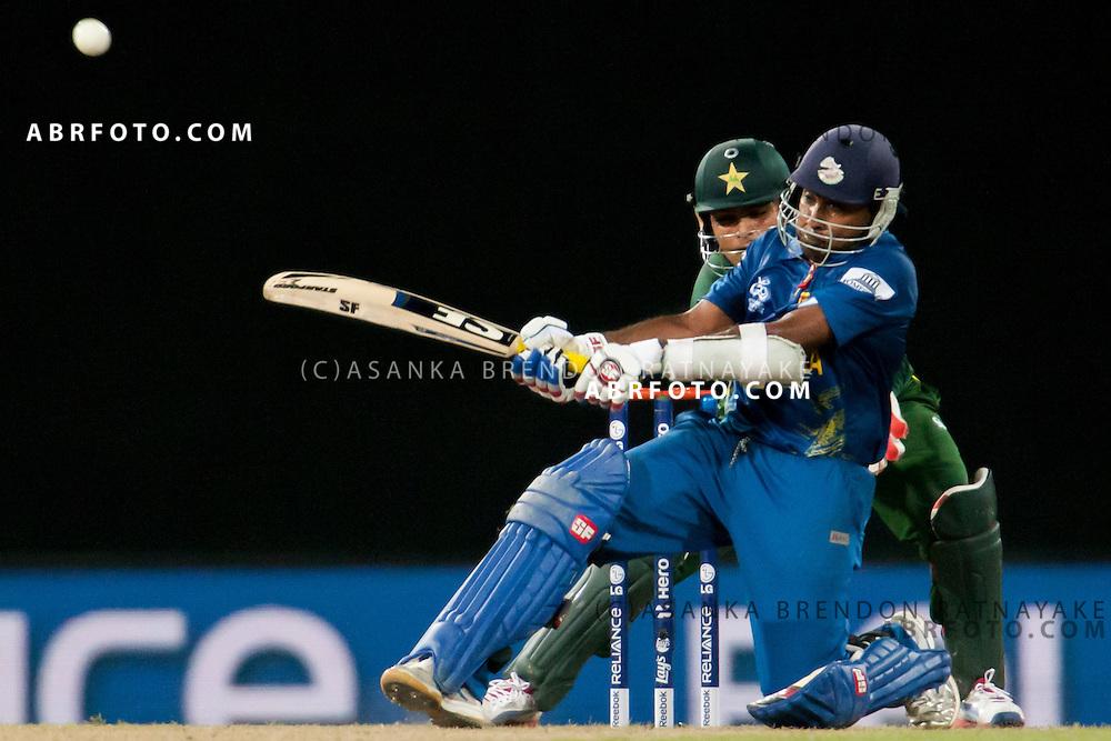 Sri Lankan Mahela Jayawardene batting during the World T20 Cricket Mens Semi Final match between Sri Lanka Vs Pakistan at the R Premadasa International Cricket Stadium, Colombo. Photo credit : Asanka Brendon Ratnayake