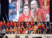 Euro 2012: Celebration <br /> Spain's Euro 2012 championship soccer team arrives to Madrid