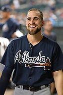 PHOENIX, AZ - JULY 26:  Ender Inciarte #11 of the Atlanta Braves smiles in the dugout prior to the MLB game against the Arizona Diamondbacks at Chase Field on July 26, 2017 in Phoenix, Arizona.  (Photo by Jennifer Stewart/Getty Images)