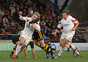 Wycombe, Great Britain, Right, Wasps, Danny CIPRIANI, tackles Falcon Mathew TAIT, during the Guinness Premiership Game London Wasps vs Newcastle Falcon at Adams Park, England, on Sunday 25/11/2007   [Mandatory Credit. Peter Spurrier/Intersport Images]