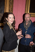 KATE RAWLINSON; SAM BARKER, The Literary Review Bad Sex in Fiction Award 2014. The In and Out ( Naval and Military ) Club, 4 St. James's Sq. London SW1. 3 December 2014.