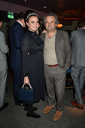 GIZZI ERSKINE and MARK HIX at the GQ Food & Drink Awards 2016 presented by Veuve Clicquot held at 100 Wardour Street, Soho, London on 26th April 2016.
