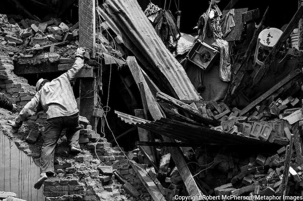 Nepal. Earthquake aftermath. Over 8000 people lost their lives when the earthquake struck Nepal in april 2015. Photo: Robert McPherson/Metaphorimages