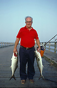 Recreational Fisherman, on the Duxbury, Massachusetts boardwalk