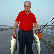 Recreational Fisherman, on the Duxbury, Massachusetts boardwalk
