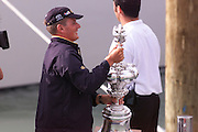 Team New Zealand, Dean Barker with the America's Cup. 2000