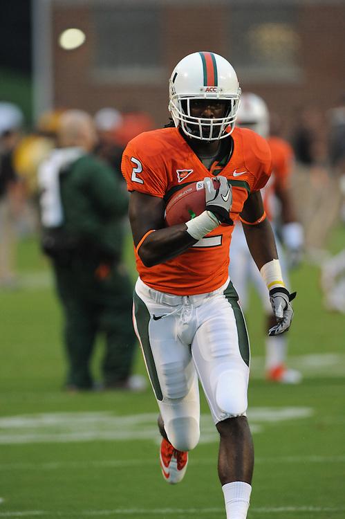 2011 Miami Hurricanes Football @ Maryland<br /> <br /> LaRon Byrd