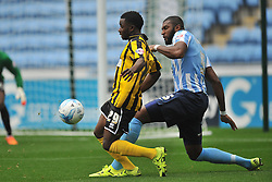 Larnell Cole  Shrewsbury Town FC, battles with Coventrys Reda Johnson, Coventry City v Shreswsbury Town FC  Ricoh Arena, Football Sky Bet League One, Saturday 3rd October 2015
