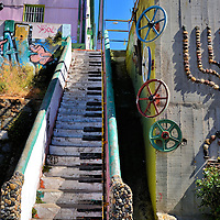 Piano Keys Stairs in Valparaíso, Chile<br />