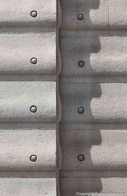 Detail of alumium studs on facade. Post Office Savings Bank, Vienna, Austria 1904-12 Architect: Otto Wagner
