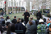 """Robert Townsend at The Robert Townsend's """"The Ultimate Pitch"""" Master Class Produced by Film Life and held inpromptu at Byrant Park on November 21, 2009 in New York City."""
