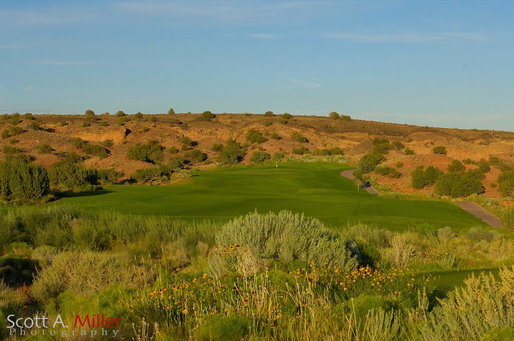 Albuquerque, N.M.:  July 9, 2006 -  No. 14 on the Twin Warriors Golf Club in Santa Ana Pueblo, N.M...                ©2006 Scott A. Miller