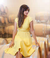 Actress Hannah Simone for Sterling Wine.