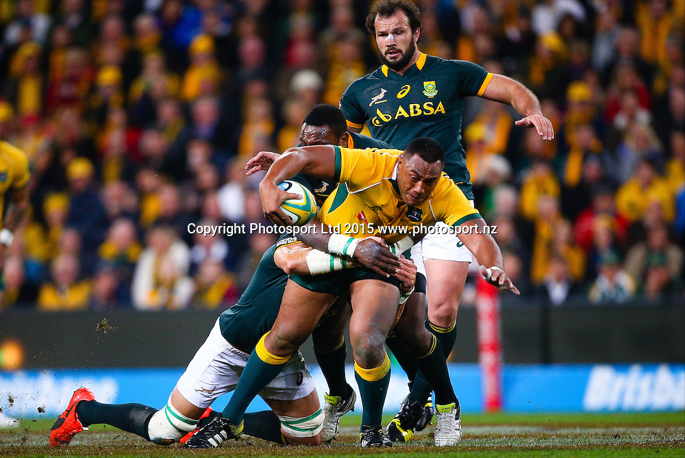 Sekope Kepu, Rugby Championship, Australia v South Africa, Suncorp Stadium,  Brisbane, Australia,  July 18, 2015.  Copyright Photo: www.Photosport.co.nz