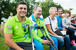 Darko Duric, Francek Nani Tirsek at Opening of photo exhibition of Slovenian Paralympic Athletes before Rio 2016, on July 14, 2016 in Arboretum Volcji potok, Slovenia. Photo by Vid Ponikvar / Sportida
