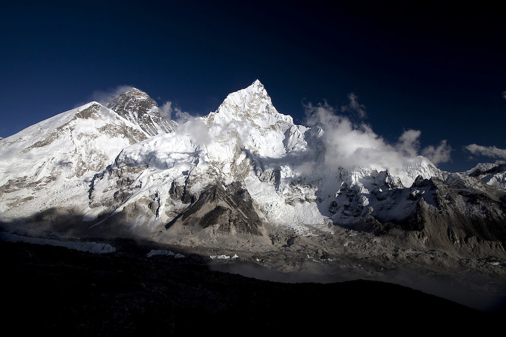 October 2009 WWF Everest - ice and snow on the mountains of the Everest Range from Kala Patar