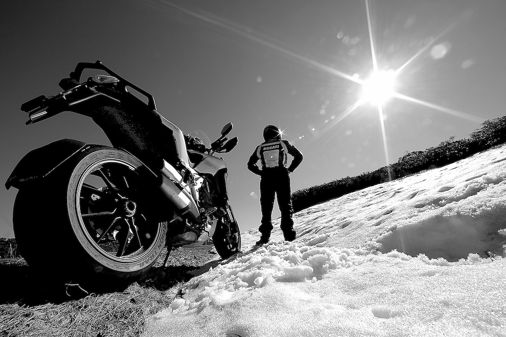 Freezing Point<br /> On Australia's Highest Roads with the Ducat MultiStrada, a self shot.